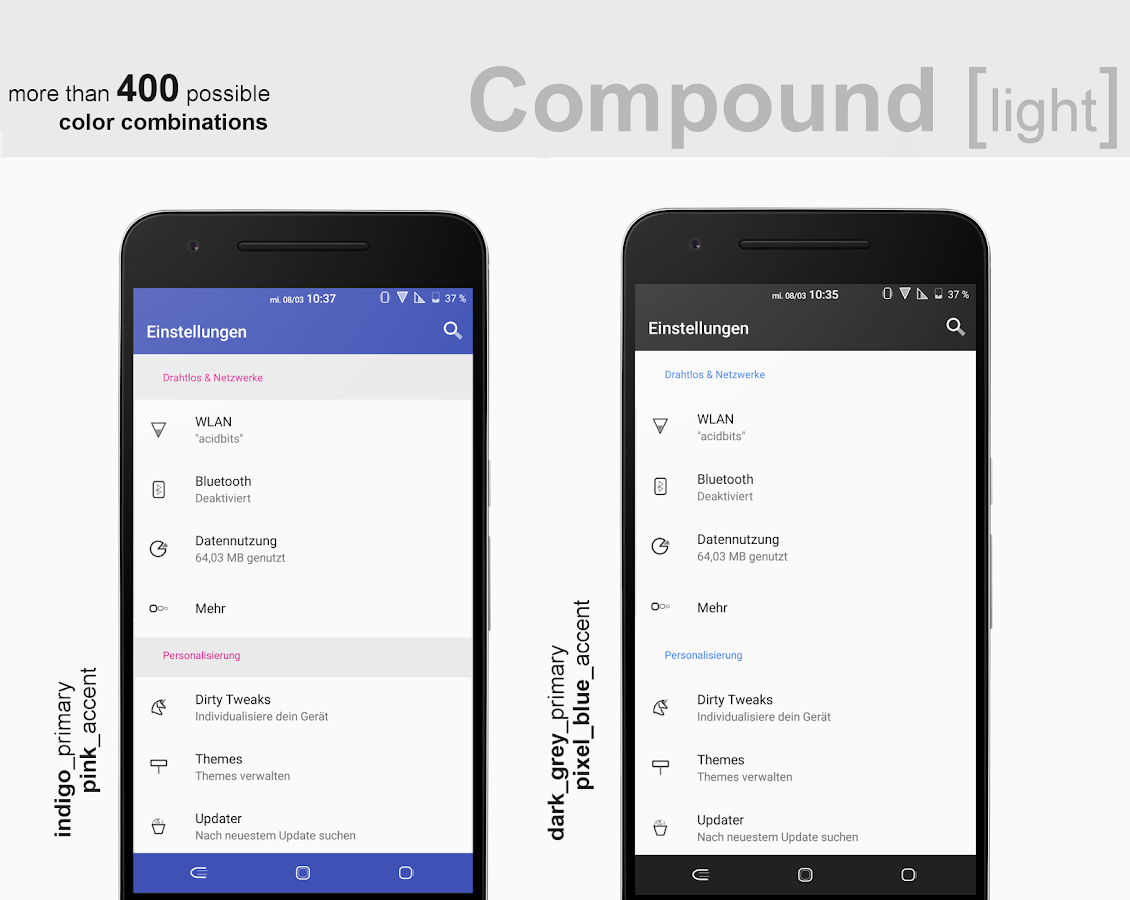 Compound [light] Substratum (Android Oreo/Nougat) Screenshot 2