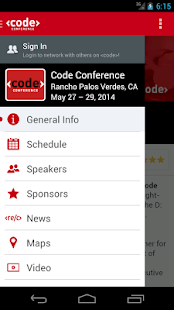 Code Conference 2015 - screenshot