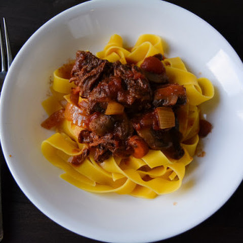 Crockpot Short Rib Ragu over Pappardelle