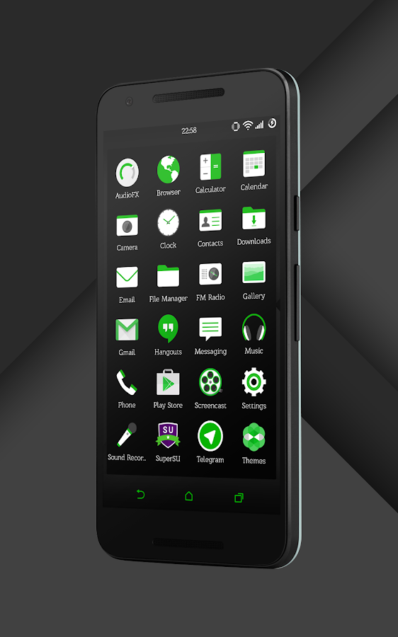 Sense Black/Green cm13 theme Screenshot 13