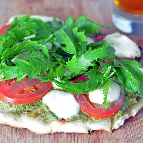 Homemade Pizza on the Grill - Margarita with Arugula