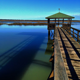 Down by the river. #Boardwalk by Brian Kennedy - Landscapes Waterscapes