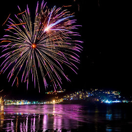 by Sergiu Chirilov - Public Holidays New Year's Eve ( 2017, new year, fireworks, long exposure, travel, phuket, beach )