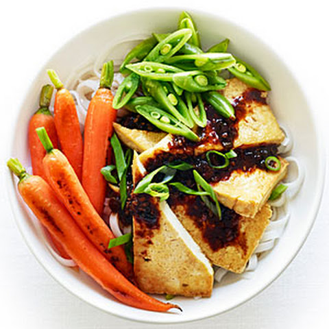Tofu and Rice Noodles with Black Bean Sauce