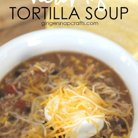 Hearty Tortilla Soup {recipe} + blog hop