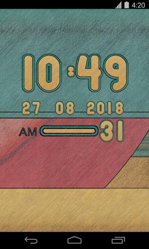 Terra Digital Clock Widget - screenshot