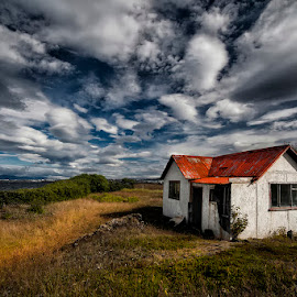 Abandoned Summer House by Þorsteinn H. Ingibergsson - Buildings & Architecture Decaying & Abandoned ( clouds, iceland, sky, nature, structor, landscape, abandoned )