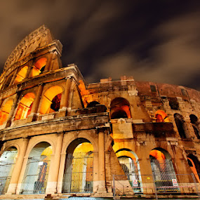 colosseum at night by Carlo Romero - Buildings & Architecture Public & Historical ( colosseum, carlo antonio romero, europe, rome, long exposure, night shot )
