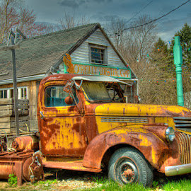 O'Reilly's Lobster Coop by Chris Cavallo - Transportation Automobiles ( relics, lobster trap, coop, buoy, maine, truck, lobster, rust, decay,  )