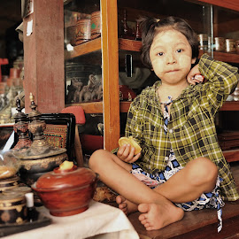 In the shop by Tomasz Budziak - Babies & Children Child Portraits ( child portrait, burma, child )