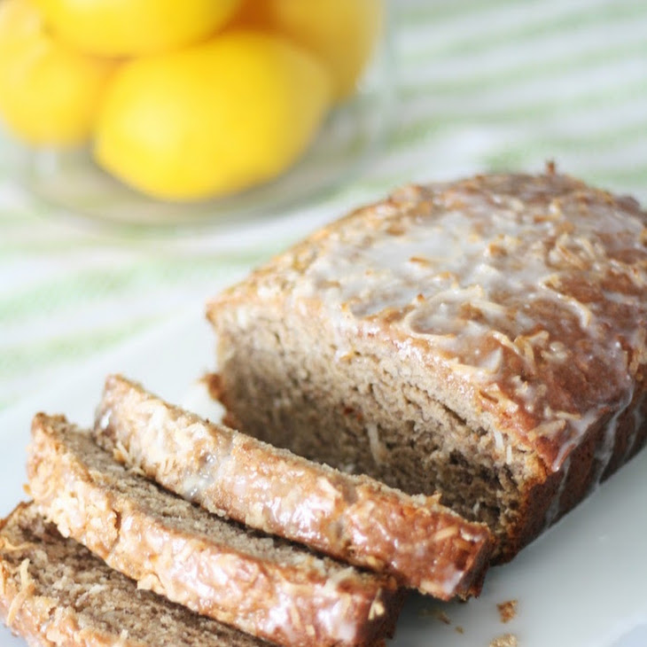 Coconut Banana Bread with Lemon Glaze Recipe | Yummly