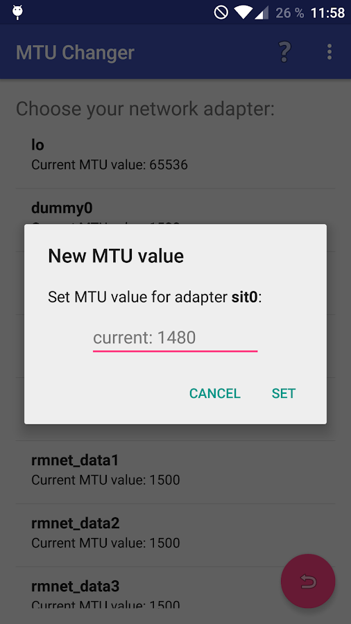 MTU Setter PRO Network ROOT Screenshot 1