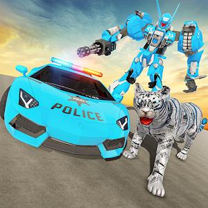 US Police Robot War: Multi Transform Tiger Robot For PC / Windows 7/8/10 / Mac – Free Download
