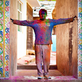 holi. the colours of india by Ajay Mehta - People Portraits of Men ( kshitiz raj )