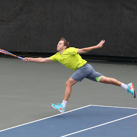 wide forehand by Ron Tong - Sports & Fitness Tennis ( ball, fitness, sports, exercise, tennis )