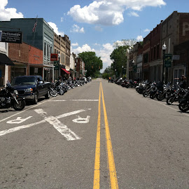Bikers memorial by Mary Danihel - City,  Street & Park  Street Scenes