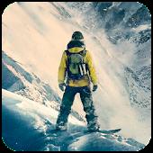 Snowboarding Steep