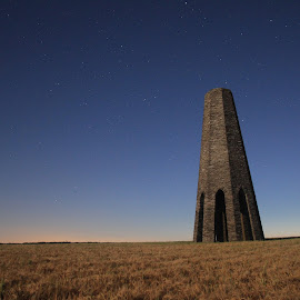 Moon lit tower by Nigel Street - Buildings & Architecture Statues & Monuments