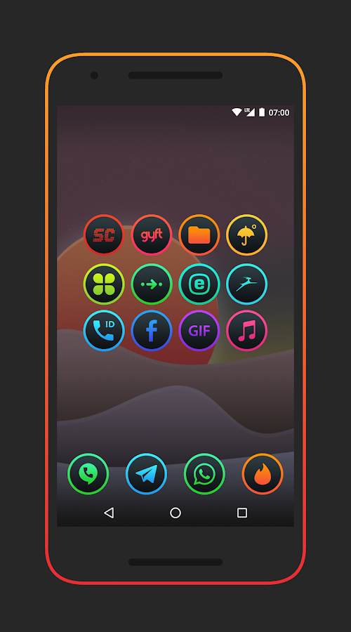 Lux Dark - Icon Pack Screenshot 6
