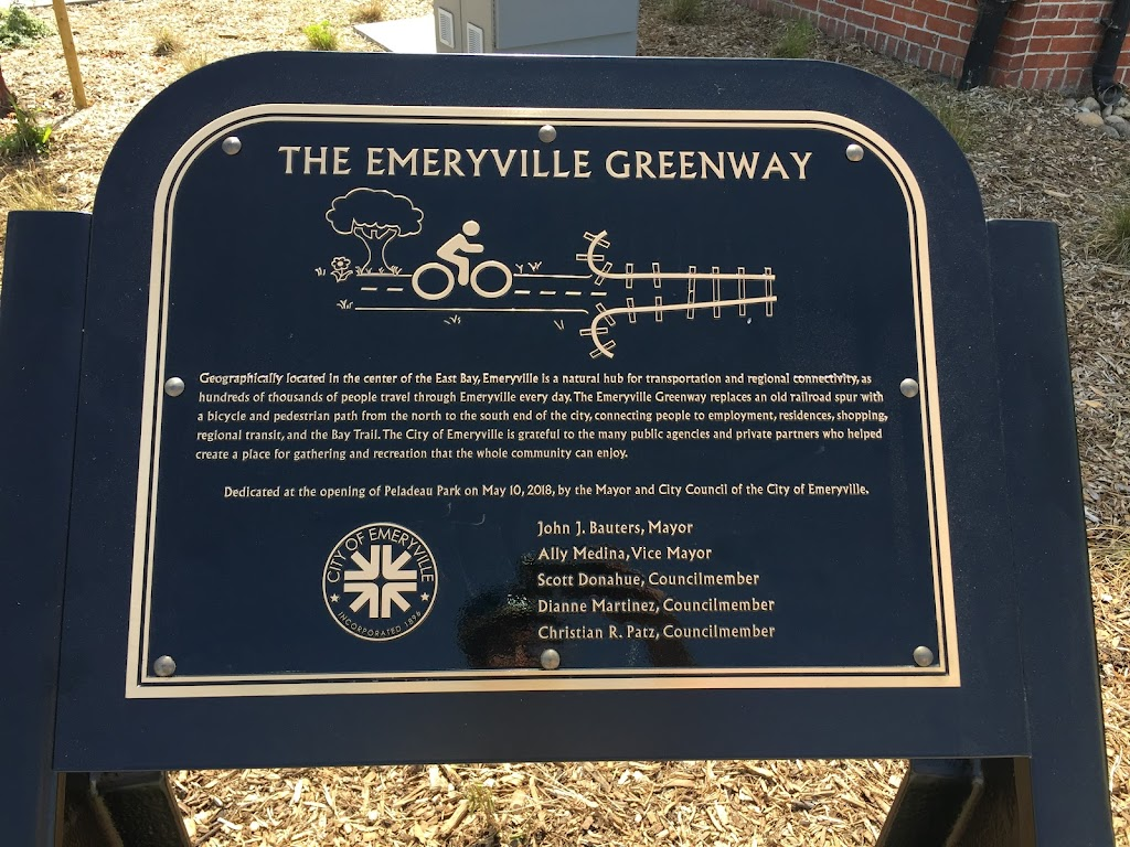 THE EMERYVILLE GREENWAY Geographically located in the center of the East Bay, Emeryville is a natural hub for transportation and regional connectivity, as hundreds of thousands of people travel ...