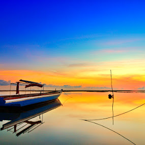 Colorful Morning by Irwansyah St - Transportation Boats