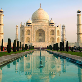 Taj Mahal by Anuška Vončina - Buildings & Architecture Statues & Monuments ( monuments, buildings, india, travel, architecture )