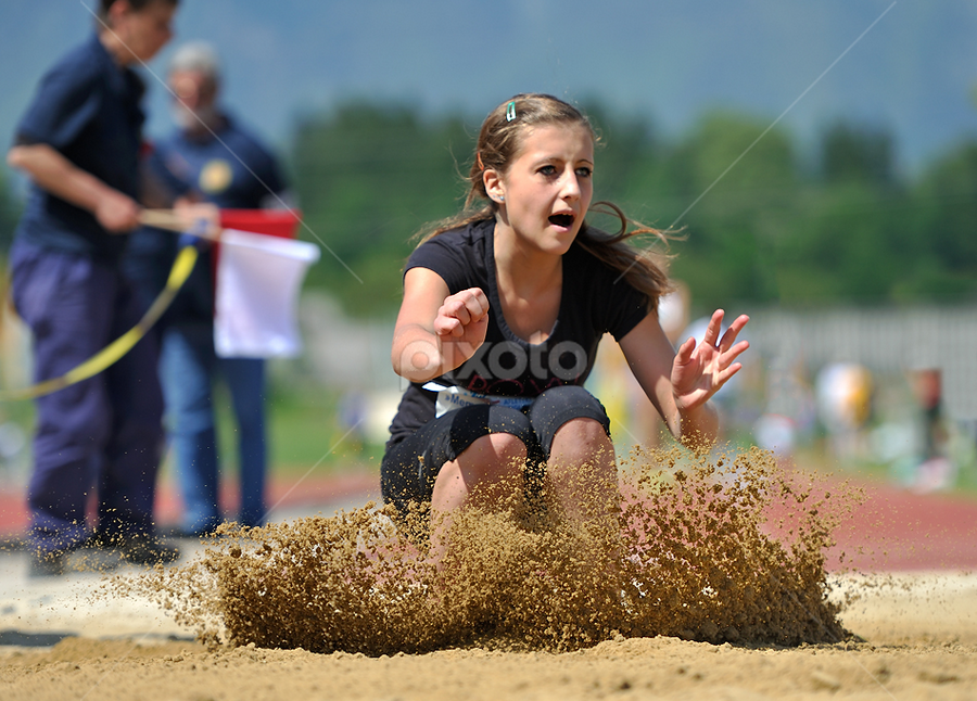 Rough Landing by Alen Lacijan - Sports & Fitness Other Sports ( field, sand, athletics, longjump, splash, landing, competition, jump )