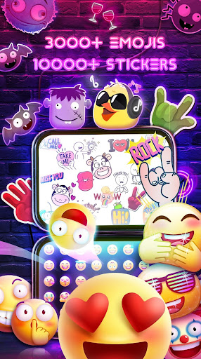 Neon Messenger for SMS - Emojis, original stickers For PC