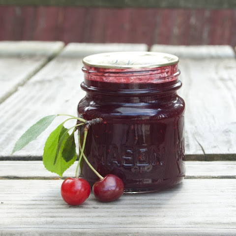 Sour Cherry Raspberry Lime Jam (No Pectin)