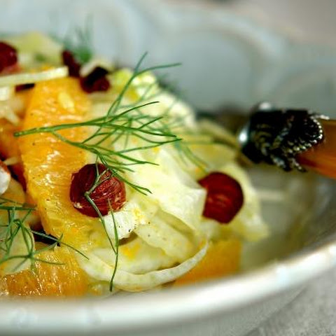 Fennel and Orange Salad With Toasted Hazelnuts and Cranberries