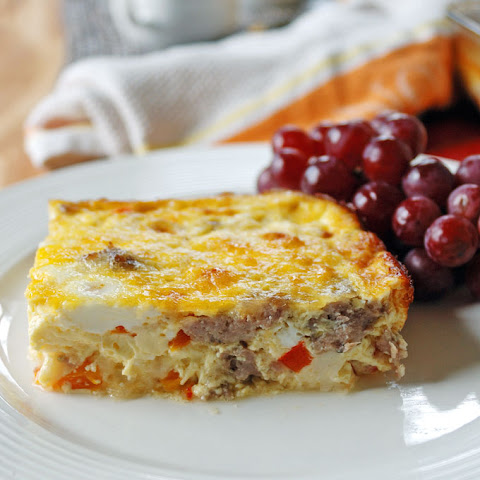 Sausage and Peppers Breakfast Casserole