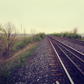 Track by Vamsi Naradasu - City,  Street & Park  Street Scenes ( cool, toronto, path, way, train )