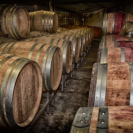 Wine Barrels by Marco Bertamé - Artistic Objects Other Objects ( wine, ring, wood, metal, wine barrel, round, circle )