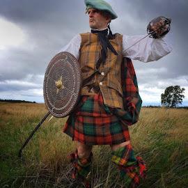 by John Coleman - People Portraits of Men ( warrior, highlander, clansman, culloden,  )