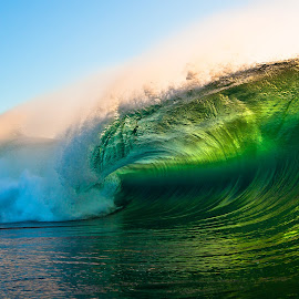 Illuminated Emerald by Burg Thurston - Nature Up Close Water ( water, waves, power, ocean, surf, barrel, light )