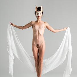 by Shawn Crowley - Nudes & Boudoir Artistic Nude ( dancer, woman, rabbit )