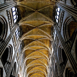 GOTHIC ARCHES by Doug Hilson - Buildings & Architecture Places of Worship ( rouen cathedral, france, cathedral, gothic architecture )