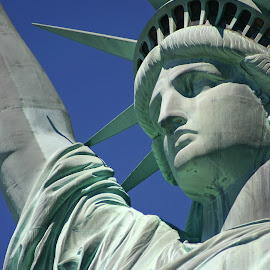 Liberty by Carson Satchwell - Buildings & Architecture Statues & Monuments ( water, liberty, statue, nyc, usa )