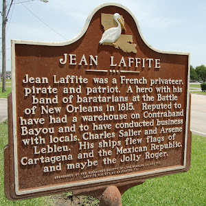 Jean Laffite was a French privateer, pirate and patriot. A hero with his band of baratarians at the Battle of New Orleans in 1815. Reputed to have had a warehouse on Contraband Bayou and to have ...