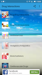 Drug Interactions screenshot for Android