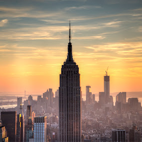 Empire State Building  by Edin Chavez - Buildings & Architecture Statues & Monuments ( cityscapes, sunset, empire state building, new york, nyc )