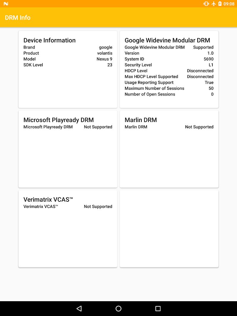 DRM Info Screenshot 9
