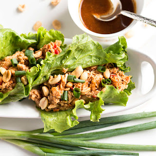 Peanut Asian Chicken Lettuce Wraps