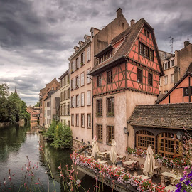 La Petite France by Ole Steffensen - City,  Street & Park  Neighborhoods ( ill, la petite france, pont couverts, half-timbered, france, alsace, restaurant, river, strasbourg,  )