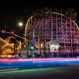 Belmont Park by Karina Irene - City,  Street & Park  Amusement Parks ( belmontpark, rollercoaster, sandiego, missionbeach )