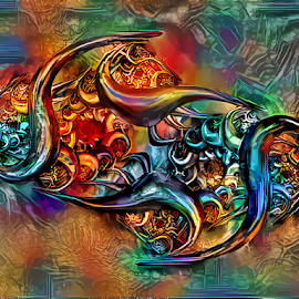 Fractal multicolored by Cassy 67 - Illustration Abstract & Patterns ( digital, classic, abstract art, modern, trendy, fractal, abstract, deepdream, colorful, digital art, energy )