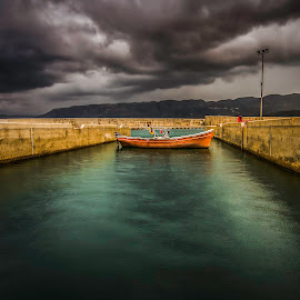Port by Ali Alaraibi - Landscapes Beaches ( beaches, long exposure, beach, landscape, port of andratx )