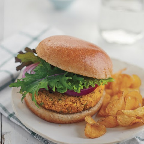 Red Lentil, Sweet Potato, and Hemp Burgers from Vegan Under Pressure