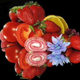 fruits,vegetables,candy with flower by LADOCKi Elvira - Food & Drink Fruits & Vegetables ( fruits )