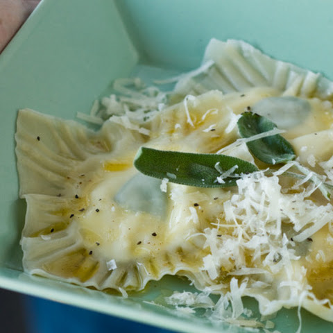 Ravioli with Goat Cheese and Sage Filling